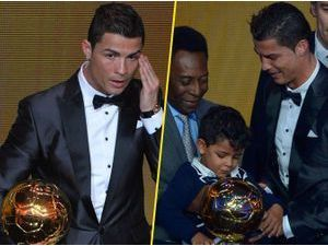 Photos : Cristiano Ronaldo : larmes, exposition de son fils, bisou avec Irina... Too much le ballon d'Or 2013 ?