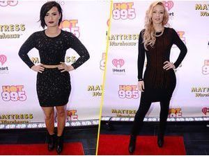 Photos : Demi Lovato et Iggy Azalea : duo de veuves noires pour le Jingle Ball !