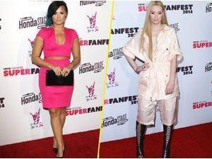 Photos : Demi Lovato : toute en charme et couleur, elle éclipse Iggy Azalea du tapis rouge !