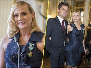 Photos : Diane Kruger : accompagnée de Joshua Jackson pour être faite Officier de l'ordre des Arts et des Lettres !