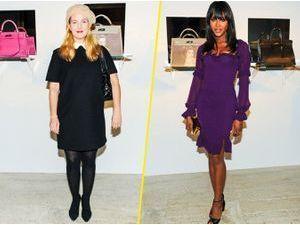 Photos : Drew Barrymore : une school girl bien sage aux côtés de Naomi Campbell !