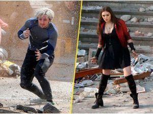 Photos : Elizabeth Olsen et Aaron Taylor-Johnson : explosifs pour Avengers 2 !