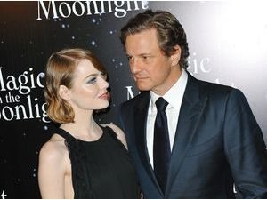 "Photos : Emma Stone et Colin Firth : tapis rouge parisien pour ""Magic in the Moonlight"" !"