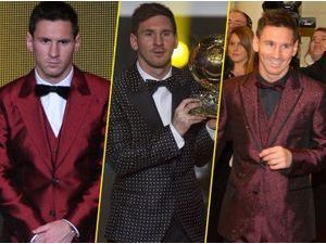 Photos : Lionel Messi : ses fameux looks improblables pour la cérémonie du Ballon d'Or...