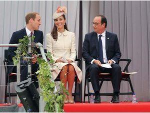Photos : François Hollande : sous le charme de Kate Middleton aux commémorations de la première guerre mondiale !