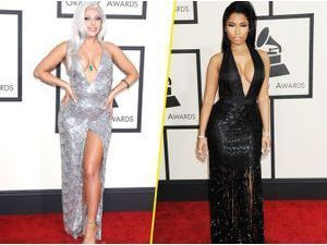 Photos : Grammy Awards 2015 : Lady Gaga VS Nicki Minaj : battle de décolleté plongeant !
