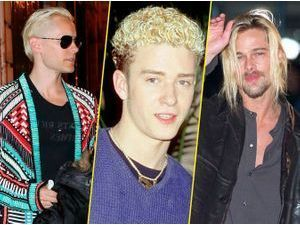 "Photos : Jared Leto, Justin Timberlake, Brad Pitt... ""Blonde Ambition"" !"