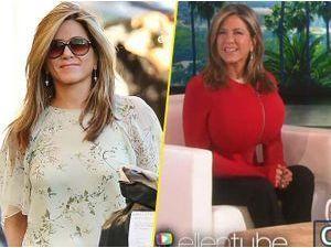 Photos : Jennifer Aniston : à mourir de rire quand elle se prend pour Kim Kardashian !