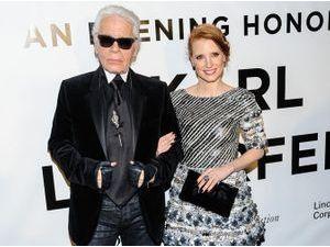 Jessica Chastain : la flamboyante actrice américaine nouvelle complice de Karl Lagerfeld !
