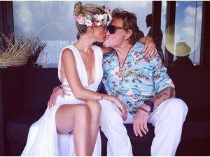 Photos : Johnny et Laeticia Hallyday : en vacance à St Barth ils fêtent les 10 ans de Jade !
