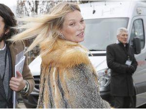 Photos : Kate Moss : au poil pour la Fashion Week de Paris et le défilé Louis Vuitton !