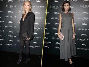 Photos : Kate Moss : une baby-doll sexy aux côtés d'Alexa Chung pour l'inauguration du magasin Longchamp !