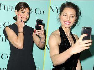 Photos : Katie Holmes et Jessica Biel : reines du selfie pour Tiffany & Co !