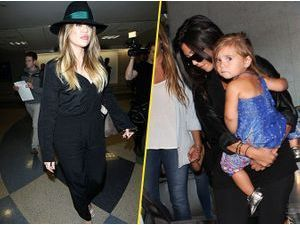 Photos : Khloé et Kourtney Kardashian : retour remarqué à Los Angeles !