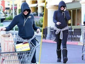 Photos : Khloe Kardashian : elle faisait ses courses pendant que Kourtney accouchait !