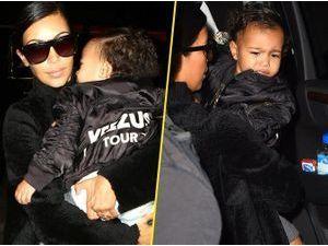 Photos : Kim Kardashian : North apeurée à l'aéroport, elle fait tout pour la protéger !