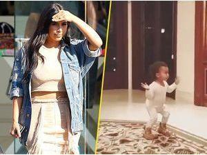 Photos : Kim Kardashian : North West a le rythme dans la peau et fait le buzz sur la Toile !