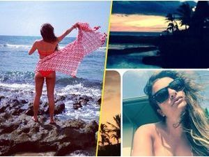 Photos : Lea Michele : bikini, cocktails et mer turquoise… la bombe s'accorde un break à Hawaii !