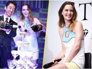 Photos : Leighton Meester : elle ne dit jamais non au champagne, même en pleine promotion !