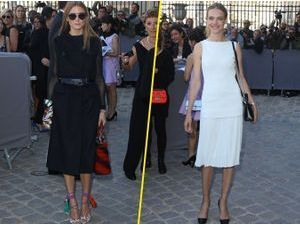 "Photos : Natalia Vodianova et Olivia Palermo : c'est ""all black & white"" au défilé Dior !"