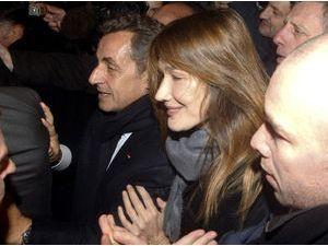 Photos : Nicolas Sarkozy : une victoire décevante célébrée malgré tout avec Carla Bruni !
