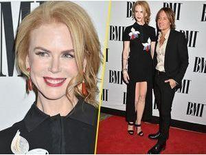 Photos : Nicole Kidman : gambettes bien à l'air sur le red carpet, radieuse avec son homme !