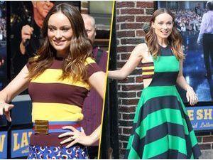 """Photos : Olivia Wilde : canon et pétillante, la jeune maman nous offre un défilé coloré complètement """"barré"""" !"""