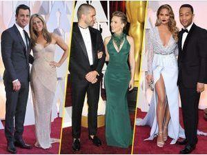 Photos : Oscars 2015 : Jennifer et Justin, Scarlett et Romain, Chrissy et John… Tous les plus beaux couples !