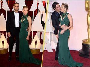 Photos : Oscars 2015 : Scarlett Johansson : ultra courtisée, entre son Frenchy et John Travolta !