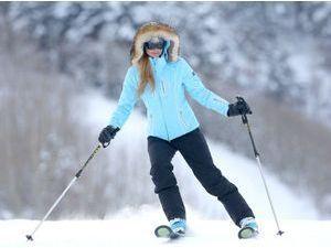 Photos : Paris Hilton : chaud devant (ou pas), la starlette s'attaque aux pistes d'Aspen !