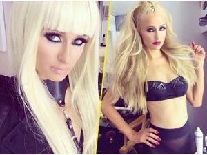 Photos : Paris Hilton : tenues d'inspiration bondage et make-up intense, elle met le paquet pour son nouveau clip !