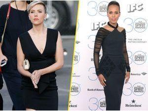 Photos : Scarlett Johansson et Kerry Washington : le match de la petite robe noire !