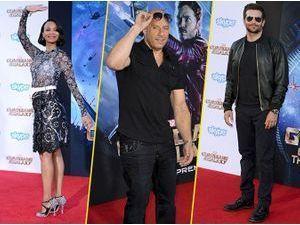 """Photos : Zoe Saldana, Vin Diesel, Bradley Cooper : """"Les Gardiens de la Galaxie"""" débarquent à Hollywood !"""