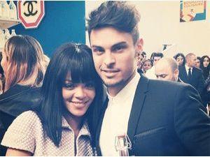 Rihanna : tout sourire avec Baptiste Giabiconi !