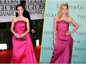 Mode : Natalie Portman vs Doutzen Kroes : qui porte le mieux la robe rose barbie ?
