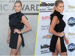 Photos : Billboard Awards 2013 : Kesha : make-up léger mais robe ultra-osée !