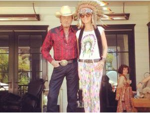 Photos : Navajo Party chez les Hallyday !