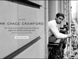 Mode : Chace Crawford revient au mannequinat le temps d'un shooting !