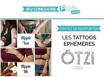 Jeu Concours : tentez de remporter de superbes tattoos éphémères !