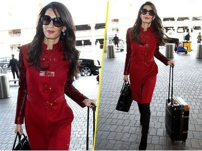 Photos : Amal Clooney : the lady in red !