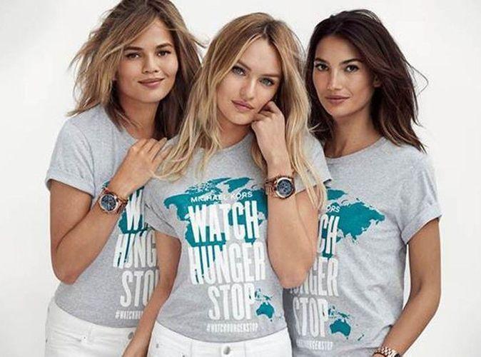 Mode : Michael Kors, Lily Aldrige, Candice Swanepoel et Chrissy Teigen : tous unis contre la faim dans le monde !