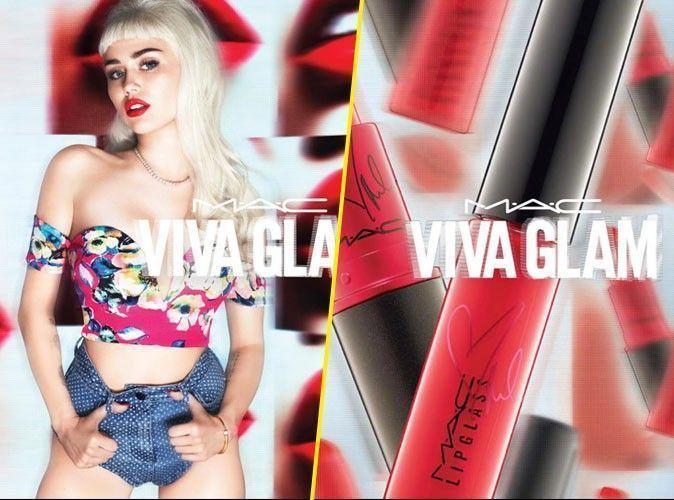 Photos : Miley Cyrus lutte contre le SIDA grâce à Viva Glam de M.A.C. Cosmétiques !