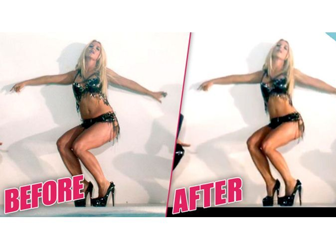 Britney Spears retouchée dans Work Bitch
