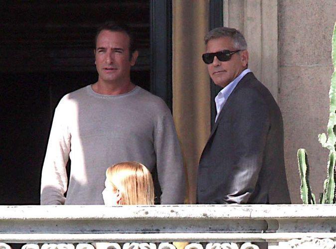 Photos : Jean Dujardin et George Clooney : les Monuments Men se retrouvent sur le tournage de la nouvelle pub Nespresso !
