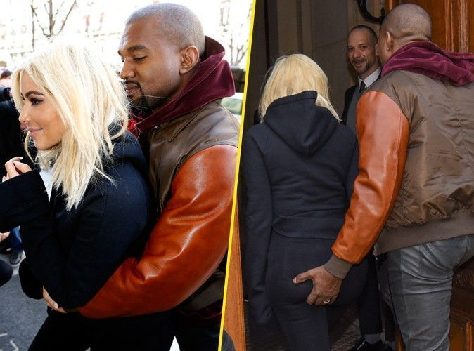 Photos : Kim Kardashian et Kanye West : câlins et pelotage de fesses à Paris !
