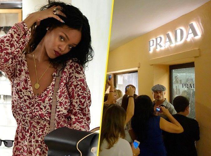 Photos : Rihanna : toujours en vacances en Sardaigne, elle crée l'émeute chez Prada !