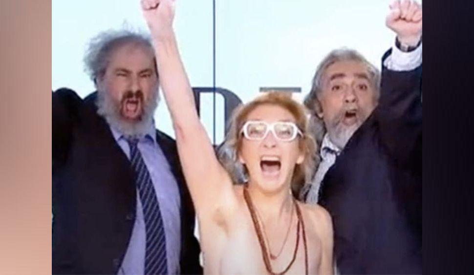 Corinne Masiero (Capitaine Marleau) : elle dézingue Macron... seins nus sur Canal +