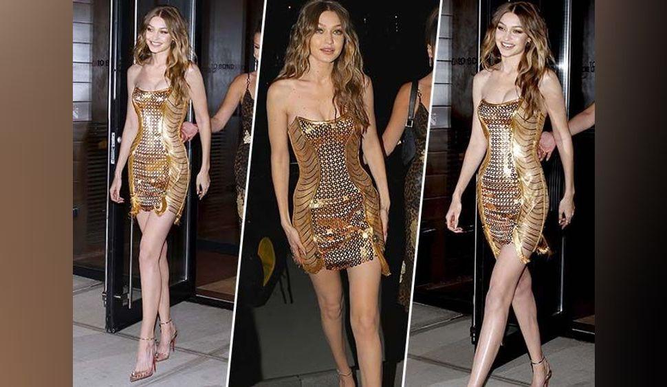 Gigi Hadid : Bombesque en mini-robe dorée pour fêter ses 23 ans !