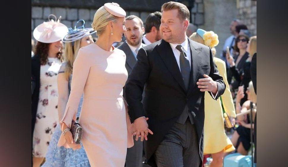 James Corden s'explique sur sa tête d'enterrement au mariage de Meghan Markle et du Prince Harry