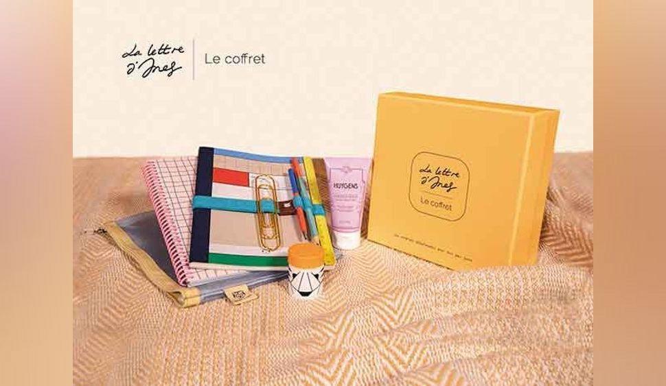 La Lettre d'Ines, le coffret : découvrez les cadeaux et conseils de la box de janvier, pour une année 2021 sans stress !
